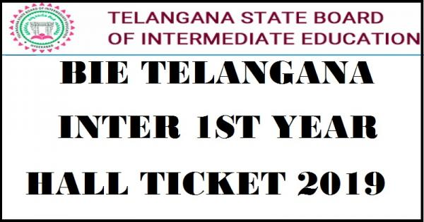 Telangana TS Intermediate Admit Card 2019: TSBIE 1st, 2nd Year Hall Tickets @ bie.telangana.gov.in